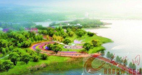 """莲花湖风景区""""蝶舞映辉""""鸟瞰图"""